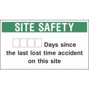 Days Since Last Accident Sign