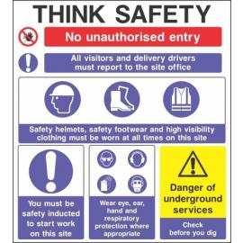 Thinj Safety Sign
