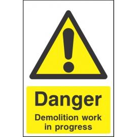 Danger Demolition Sign