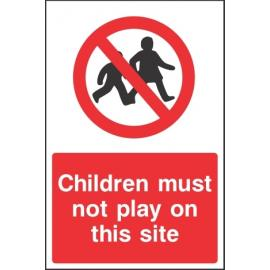 No Children Site Sign