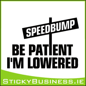 Be Patient I'm Lowered Speedbump Sticker