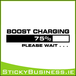 Boost Charging Sticker