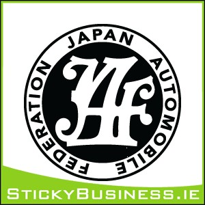 Japan Automobile Federation JAF Sticker