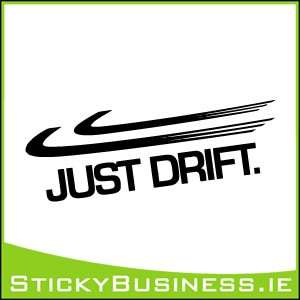 Just Drift Sticker