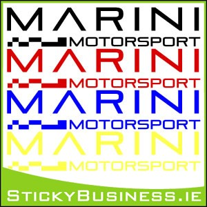 Marini Motorsport Sticker