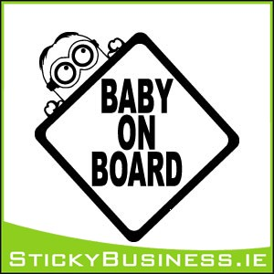 Minion Baby on Board Sticker