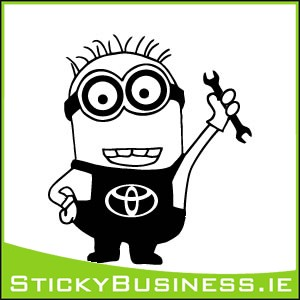 Minion Toyota Mechanic Sticker