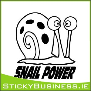 Snail Power Sticker