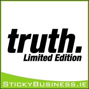 Truth Limited Edition Sticker