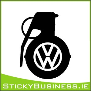 VW Grenade Sticker