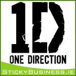 1D One Direction Wall Decal