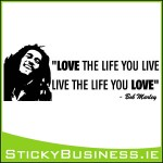 Bob Marley Love Life Wall Decal