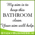 Keep Bathroom Clean Wall Decal