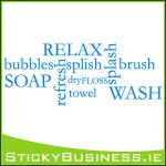 Relax Bathroom Wall Decal