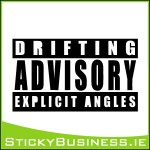 Drifting Advisory Sticker