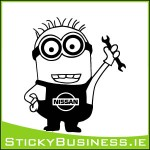 Minion Nissan Mechanic Sticker