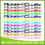 MidnightClub.ie Sticker